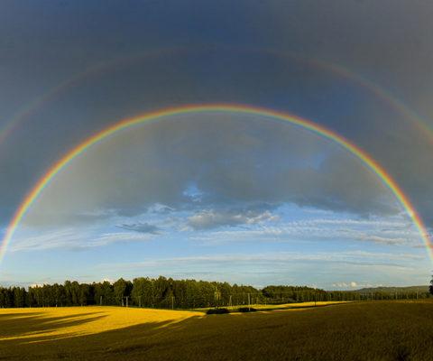 Regenboog. Moreel leider wil 'het goede', thought leader wil nieuw perpectief